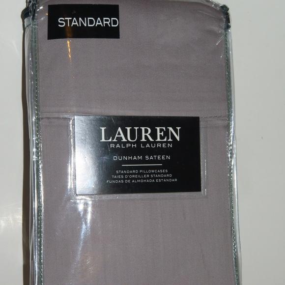 2 Ralph Lauren Dunham Brown King or Standard Pillowcases 300TC